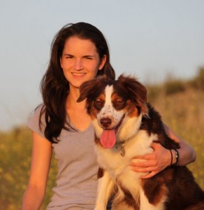 Whitney Engler (who died in 2015 shortly before graduating) and her dog Rosie.