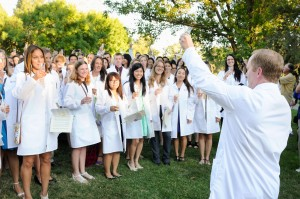 Dean Lairmore welcomes the incoming Class of 2015 at the annual White Coat Ceremony.