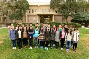 Students from Nanjing Agricultural University in China visit UC Davis.