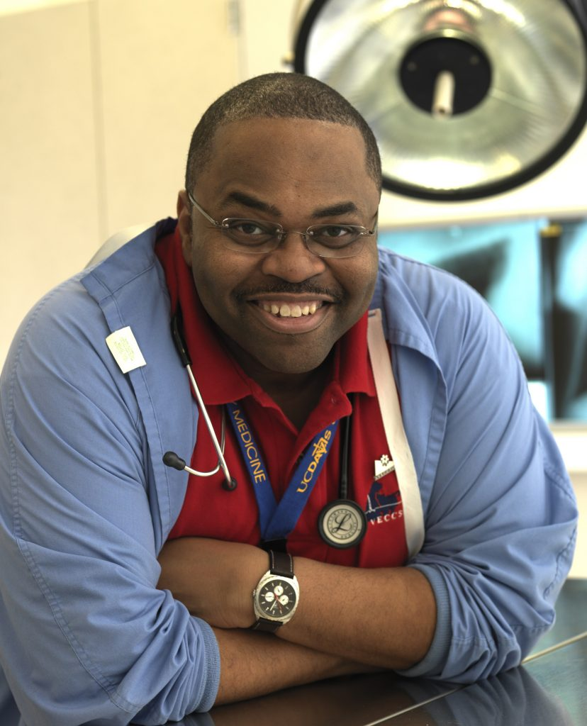 Harold Davis, service manager for the Emergency and Critical Care Service at the UC Davis Veterinary Hospital.